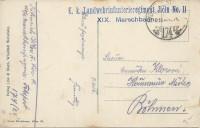 Feldpost 1. WK: K.u.K. Landwehrregiment Jicin No. 11 auf AK. Russische Kirche  ( 30 )