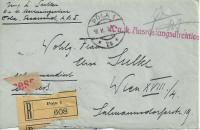 Reko Brief K.u.K. Marinefeldpostamt POLA 18.II.1918 ( Briefstück )  ( 36 )