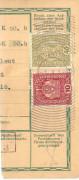 Feldpost 1. WK. K.u.K. Etappenpostamt 515 auf Frankierten Paket Abschnitt 1918   ( 62 )