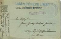 Feldpost 1. WK. Landsturm Befestigungs Arbeiter Abteilung 19 1 von 1914  ( 85 )