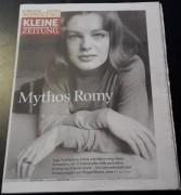 Kleine Zeitung Graz 2007:  Romy Schneider Cover !