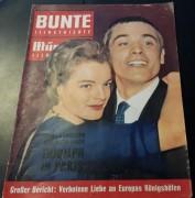 Bunte Illustrierte München 1961 / 17: Romy Schneider & Alain Delon Cover !