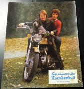 Film Aushangfoto: Krambambuli Fritz Wepper auf Motorrad