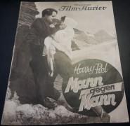 837: a: Mann gegen Mann ( Harry Piel )  Dary Holm, Fritz Beckmann, Hertha von Walther, Dr. Philipp Manning, Eugen Burg, Georg John, Charly Berger, Charles Francois,