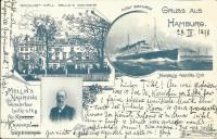 Deutschland: Gruss aus Hamburg 1898 Fürst Bismarck Marine Mellins Nahrung usw.