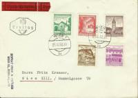 FDC: Nr: 1092, 1094, 1096, 1098, 1103 Bauten auf Eilboten Brief in Wien echt gelaufen