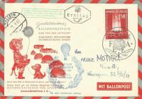 FDC: Nr: 1126 8.5.1961 Opfer Freiheit Österreich mit Jubiläums Ballonpost Flug