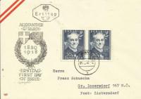FDC: Nr: 0975: 100 Geb. Alexander Girardi 5. 12. 1950 auf Schmuck Kuvert Wien 1