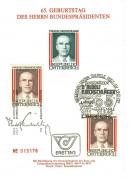 FDC: Nr: 1666 20.3.1980 Geburtstag von Bundespräsident Kirchschläger GB Block