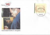 FDC: Nr: 112 ( Automatenmarke 5. Ausgabe ) ÖVEBRIA 01 Graz Schmuck Kuvert