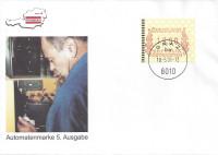 FDC: Nr: 116 ( Automatenmarke 5. Ausgabe ) ÖVEBRIA 01 Graz Schmuck Kuvert