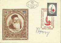 FDC: Nr: 1165: 100 Jahre Rotes Kreuz ( Henri Dunant ) mit Autogramm des Stechers