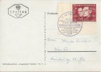 FDC: Nr: 0940: 18.12.1948 Tag der Briefmarke ( Stille Nacht Heilige Nacht ) auf Ski Fahren Postkarte Marke unteres Eckrandstück !