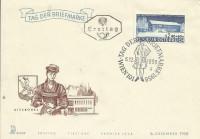 FDC: Nr: 1075 6.12.1958 Tag der Briefmarke Wien auf Merkur Schmuck Kuvert