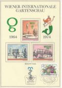 FDC: Nr: 1466 WIG Wiener Internationale Gartenschau Vignettenblock + Marke FDC