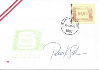 FDC: Nr: 88 ( Automatenmarke 4. Ausgabe ) Wien - WIPA 2000 mit Autogramm