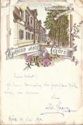 Italien: Gruß aus Görz Litho 1894 ( Vorläuferkarte ) Cur Pension Wiener Heim