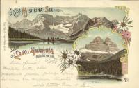 Italien: Gruß vom Misurina See Litho 1898 Saluti dal Lago di Misurina Belluno