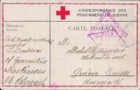 Kriegsgefangenpost 1917 Lager Mauthausen Oberösterreich in die Schweiz Zensur ( 41 )