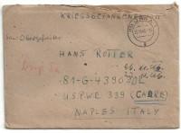 Kriegsgefangenenpost 1946 über Jena 1 nach Naples Italy mit Zensur  ( 66 )