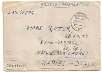 Kriegsgefangenenpost 1946 über Bludenz nach Naples Italy  ( 69 )