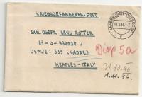 Kriegsgefangenenpost 1946 über Leverkusen - Wiesdorf nach Neaples Italy   ( 73 )