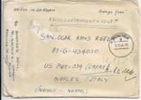 Kriegsgefangenenpost 1946 von München nach Naples - Italy US PWE 339 Cadre ( 78 )