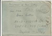 Kriegsgefangenenpost 1946 von Darmstadt 3 nach Naples - Italy US PWE 339 Cadre  ( 79 )