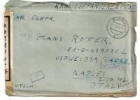 Kriegsgefangenpost 1946 über Bludenz nach Naples Italy mit Zensur  ( 82 )