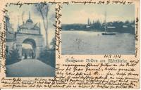 Kärnten: Gruß aus Velden am Wörthersee um 1900 Schlossthor Villen usw..