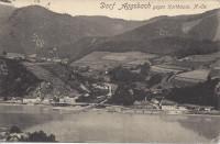 NÖ: Gruß aus Aggsbach - Dorf gegen Karthause 1918 ( Wachau )