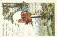 NÖ: Gruß aus Baden Litho 1900 Albrechts Höhe, Hoher Lindkogel, Section Baden