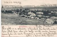 NÖ: Gruß aus Gainfahrn bei Vöslau 1902 schöne Ansicht + 2 Kinder