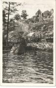 NÖ: Gruß aus Gmünd Im Bad ca. 1930 ( schöne Foto Karte )