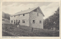 NÖ: Gruß vom Schutzhaus am Schöpfl 893 m. 1924 ( Ledermann )