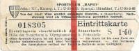 Wien XIII: Sportklub Rapid Fussball Eintrittskarte XV. Kannegasse 1 Sportpl. Hütteldorf