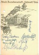 Steiermark: Gruß aus Graz Akademische Burschenschaft Ostmark Graz 1980