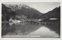 Steiermark: Gruß aus Krampen Fotokarte 1937 Schwemmanlage