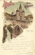 Steiermark: Gruß aus Mariazell Litho 1897 an Bernhard Tittel ( Komponist )