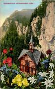Steiermark: Gruß aus Schüsserlbrunn 1934 Hochlantsch Enzian usw. Schmuck Karte