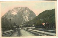 Steiermark: Gruß aus Stainach - Irdning 1909 Bahnhof mit Zügen Eisenbahn