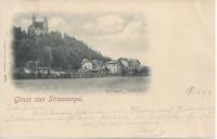 Steiermark: Gruß aus Strassengel 1897 Kurhaus Judendorf