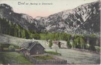 Steiermark: Gruß aus Tirol bei Neuberg in der Steiermark 1910 mit Bahnstempel