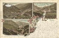Tirol: Gruß aus Landeck Litho 1897 mit Autograph Bernhard Tittel ( Dirigent )