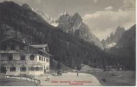 Tirol: Gruß aus dem Sextental Fischleinboden Postgasthof ( Südtirol ) 1909