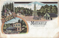 Gruß aus Mariahilf bei Zuckmantel ( Schlesien ) Litho 1902 Briefablage Stempel ! und 3 Zwerge !