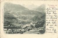 Vorarlberg: Gruß aus Tschagguns und Drusenfluh 1900 Irrläufer Schruns Baden usw