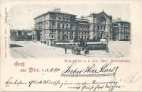 Wien II: Gruß vom Bahnhof der k.k. priv. österr. Nordwestbahn 1900
