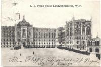 Wien I: K.k. Franz Josefs Landwehrkaserne Kaserne 1911 mit Parade