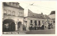 Wien XIX: Gruß aus Grinzing Endstation mit Strassenbahn Linie 38 Gasthaus Hengl
